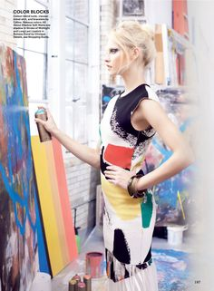 visual optimism; fashion editorials, shows, campaigns & more!: art throb: ginta lapina by regan cameron for allure february 2014