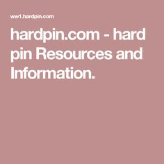 hardpin.com-hardpin Resources and Information.