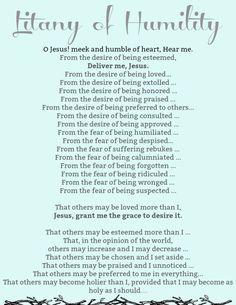 Litany of Humility - Payhip Catholic Prayers Daily, Catholic Lent, Lent Prayers, Catholic Quotes, Morning Prayers, Catholic Homeschooling, Catholic Traditions, Catholic Catechism, Spiritual Prayers