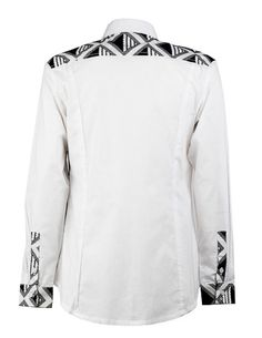 men's black and white shirt ohema ohene back view African Inspired Fashion, African Print Fashion, African Fashion Dresses, African Dress, African Wear Styles For Men, African Shirts For Men, African Clothing For Men, Black And White Shirt, White Shirts