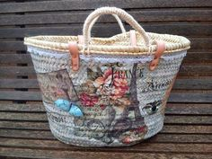 Decoupage, Carina, Diy Tote Bag, Summer Bags, New Bag, Bag Making, Straw Bag, Boho Chic, Embellishments