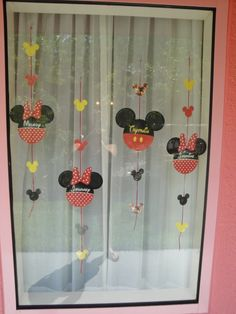Mickey & Minnie Window Decorations