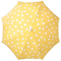 who cares if it rains when you've got a yellow polka dot umbrella?