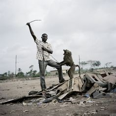 Alhaji Hassan with Ajasco, Ogere-Remo, Nigeria, 2007 by Pieter Hugo