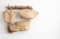 I want these woven bags! I want these woven bags! Use E Abuse, Basket Bag, Wicker Baskets, Woven Baskets, Basket Weaving, Hand Weaving, Home Deco, Straw Bag, Reusable Tote Bags