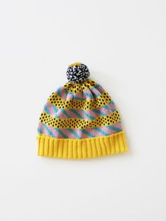 Striped + colorwork hat