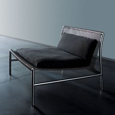Hi Tech lounge in stainless steel by Piero Lissoni for Living Divani