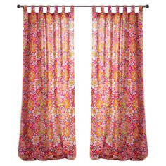 Multicolor cotton curtain panel with a floral motif.    Product: Curtain panelConstruction Material: 100% Cotton...