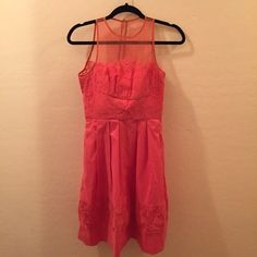 Maggy London dress Maggy London sun dress. Size 1/2. Coral colored Maggy London Dresses Mini