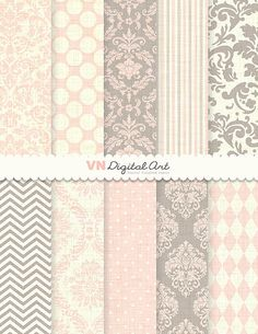 "Damast digitalem Papier, digitale Papier-Damast, Damast Digital Paper Pack (8.5 x 11 "")--Instant Download--10 Digital Papiere--603"