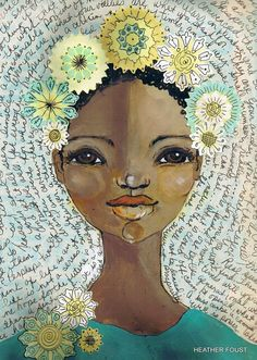 Happy Day | Heather Foust   #illustration    Alessandra Voltarelli has wonderful Pinterest boards to check out.