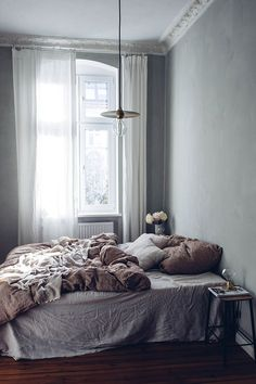 Welcoming bedroom in muted hues