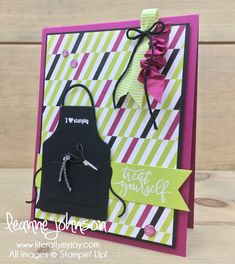 Treat Yourself | Stampin\' Up! | Apron of Love | Picture Peferct Birthday #literallymyjoy #stamping #stampinupdemonstrator #crafting #papercrafting #create #inspire #share #BerryBurst #LemonLimeTwist #PicturePefectPartyDSP #2018OccasionsCatalog #20172018AnnualCatalog
