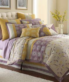 Another great find on #zulily! Swirl Burst Embroidered Comforter Set #zulilyfinds