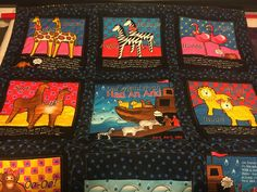 "I was given a book panel, ""Old Man Noah Had an Ark,""  I cut it up and made a quilt.  It turned out really cute."