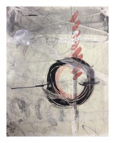 Encaustic monotype by Valerie Allen