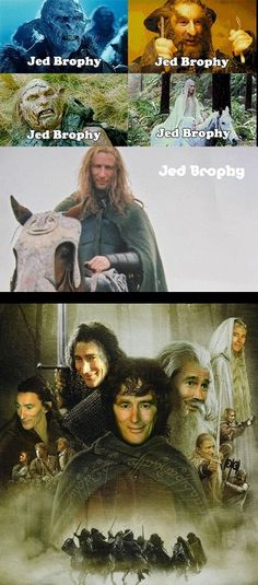 Hahaha! This is awesome! Jed Brophy has literally been in almost every movie Peter Jackson has ever made. And he was also a Nazgul...that one wasn't mentioned on here.