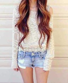 Lovely outfit! I seriously need these ombré highlights when my hair is longe