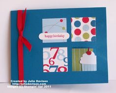 Julie's Stamping Spot -- Stampin' Up! Project Ideas Posted Daily: Build a Cupcake Peek-a-Boo Card