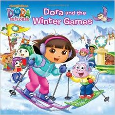 The Ice Bridge at the Winter Games is broken, and it's up to Nickelodeon's Dora the Explorer to skate, ski, and sled to the rescue! Girls ages will enjoy this sports-themed winter storybook featuring full-color art. Dora Diego, Ski Racing, Winter Games, Dora The Explorer, Downhill Ski, Skate, Skiing, Bridge, Color Art