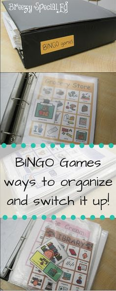 Every special education teacher needs a stack of Bingo games! Check out this post for the best way to organize all of your bingo games and new fun ways to play (that you haven't thought of yet!)
