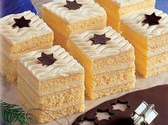 Recept na Vanilkové kocky:Na cesto: 4 žĺtky, 60 g práškového cukru, 1 balíček Vanilínového cukru, 4 bielky, 60 g práškového cukru, 1 balíček Zlatého klasu,