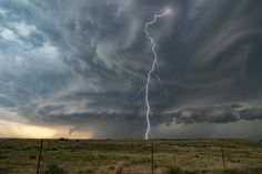 Bolt from the Blue - Impressive supercell thunderstorm over the Oklahoma panhandle June 12, 2018. This storm was very pretty, and was incredibly electrified! We photographed this beast for several hours.  If you'd like to photograph this beautiful storms, check us out at www.silverliningtours.com !!!!