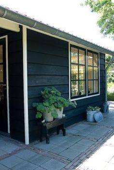 Maayke de Ridder Photography - none House Colors, Outdoor Decor, Garden Show, Swedish House, Black House, Exterior, Black Exterior, Stone Walkway, Outdoor Living