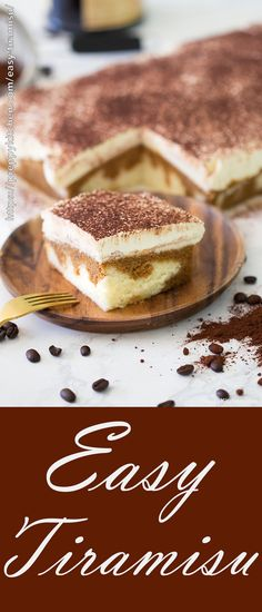 Easy Tiramisu made sheet cake style. This is a soft, moist fluffy cake that you can make anytime - Tiramisu Cake, tiramisu recipes, sheet cake #tiramisu #sheetcake #cake #desserts #italianfood #sweets #thepreppykitchen #bestcakes https://preppykitchen.com/easy-tiramisu/
