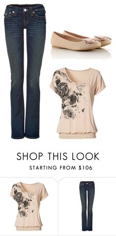 """Untitled #3099"" by ania18018970 ❤ liked on Polyvore featuring True Religion"