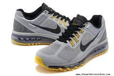 Nike Air Max 2013  LAF Wolf Grey/Black-Cool Grey-Varsity Maize For Wholesale