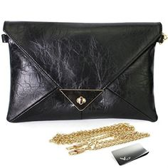 New Trending Clutch Bags: Missy K Retro Faux Leather Envelope Clutch Purse, Black,   kilofly Money Clip. Missy K Retro Faux Leather Envelope Clutch Purse, Black,   kilofly Money Clip   Special Offer: $15.99      155 Reviews Missy K Retro Faux Leather Envelope Clutch Purse is simple and suitable for many occasions such as business meeting, evening party, ball, dinner party and wedding. Comes...