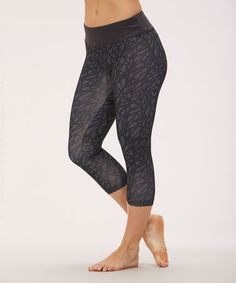 This SCRIBBLE CARBON CAPRI LEGGING by Bally Total Fitness is perfect! #zulilyfinds