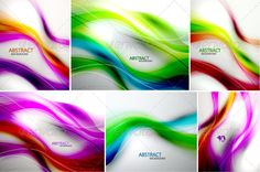 Rainbow Vector Waves Backgrounds #vector #eps #graphic #set • Available here → https://graphicriver.net/item/rainbow-vector-waves-backgrounds/2895053?ref=pxcr