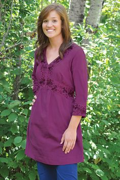 Floral Tunic - Deva lifewear.  On sale.