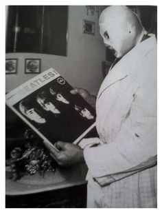 El Santo with his copy of Meet The Beatles - Imgur