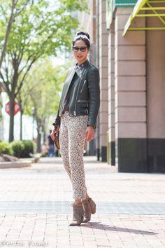 Celine Leather Jacket & Lace Pants