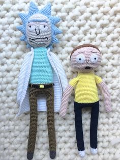 Morty Smith Pattern Book Amigurumi Rick and Morty Crochet