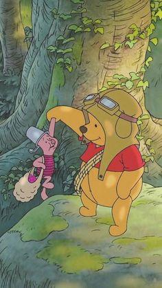 winnie the pooh wallpaper iphone wallpapers - Disney Winnie The Pooh, Winnie The Pooh Pictures, Winne The Pooh, Cartoon Cartoon, Disney Kunst, Disney Art, Images Esthétiques, Vintage Cartoons, Disney Phone Wallpaper