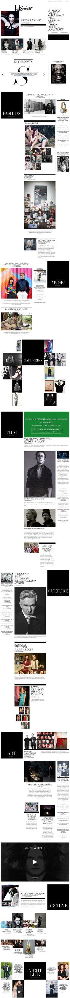 Interview Magazine | Web Design