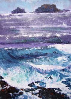 the sea, cornwall .... beautiful by Kate Charman Artist