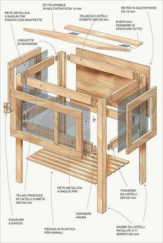 Gallinaio in legno filomena pollai pinterest for Progetto gazebo in legno pdf