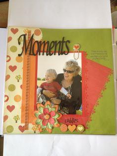 Cuddles Grandma Scrapbook Layout