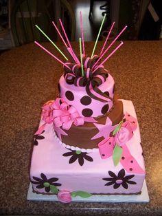 Girl Birthday Cake #birthdaycake