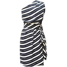 Pre-owned 1980s Christian Dior Haute Couture Black and White... ($1,624) ❤ liked on Polyvore featuring dresses, short dresses, stripe, cocktail dresses, evening dresses, black and white corset, zipper corset, striped dress and black and white cocktail dress