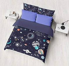 CLOTHKNOW Unicorn Duvet Cover Cotton Twin Girl Bedding Sets Purple Toddler Striped Reversible Twin 3 Pcs Bedding Duvet Cover Sets with 2 Pillowcases