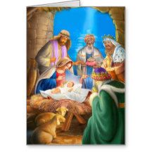 Nativity of Jesus Greeting Card