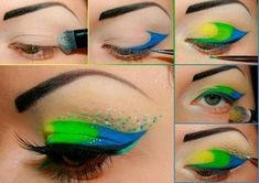 Eye Makeup Tips.Smokey Eye Makeup Tips - For a Catchy and Impressive Look Crazy Eye Makeup, Bright Eye Makeup, Makeup For Green Eyes, Eye Makeup Tips, Beauty Makeup, Makeup Ideas, Beauty Tips, Makeup Tutorials, Makeup App