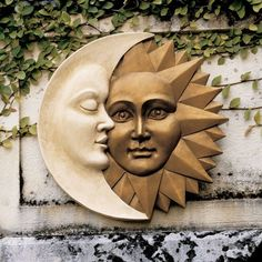 Design Toscano Celestial Harmony Sun and Moon Wall Decor