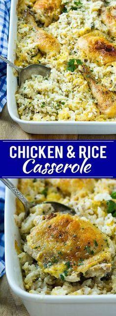Chicken and Rice Casserole Recipe   Chicken and Rice Bake   Cream of Mushroom Chicken Casserole   Chicken Casserole Recipe
